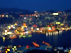 近視だと夜景が綺麗に見える