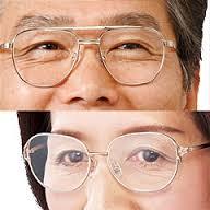 老眼の年齢別の平均度数