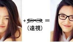遠視の人が似合うメガネ