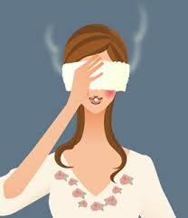 老眼対策に蒸しタオル