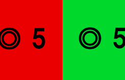 視力検査で赤緑検査