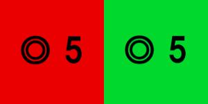 視力検査の赤緑検査